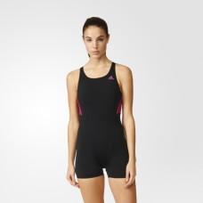 adidas Infitex 1 Piece Swimsuit - Black/Bold Pink