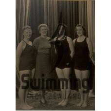 1949 New Zealand Amateur Swimming Assn Educational Tour - B Casey, Mrs C Atkinson, N Lane, H Forsyth