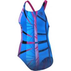 adidas Infitex+ Graphic 1-Piece Swimsuit - Shock Blue/Shock Pink