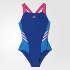 adidas Colour Block Swimsuit - Blue/Pink