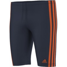 3-stripes Long Length Jammers - Navy/Orange