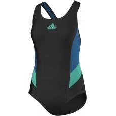 adidas colorblock swimsuit - Black/Blue