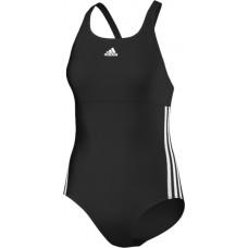 adidas Infitex 3-Stripes Swimsuit - Black/White