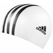 3 Stripe Silicone Cap - White/Black