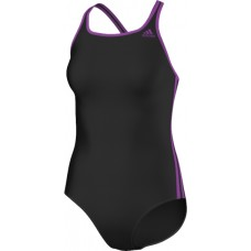 3-Stripes Swimsuit - Black/Purple