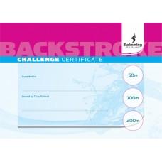 Backstroke Certificate