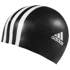 3 Stripes Youth Silicone Cap - Black/White